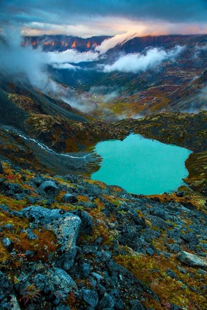 Tarn, Alpenglow, Talkeetna Mountains