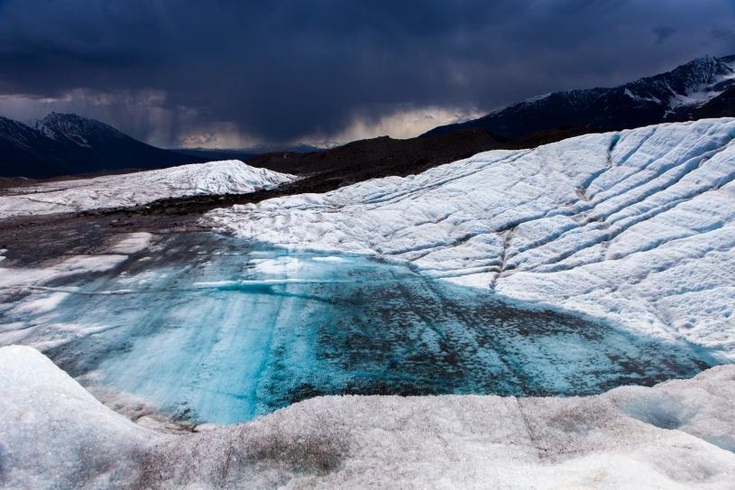 Kennicott Glacier, Wrangell-St. Elias National Park, Alaska, glacial lake